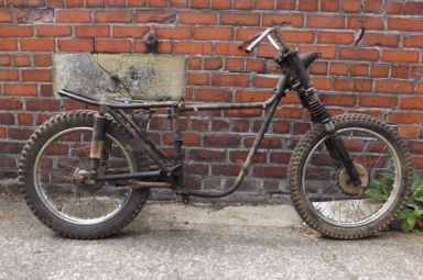 Triumph Trials rolling chassis 1961