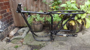 BSA C15 Frame with V5 1961