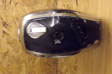 Triumph T140 E Royal Wedding chrome petrol tank