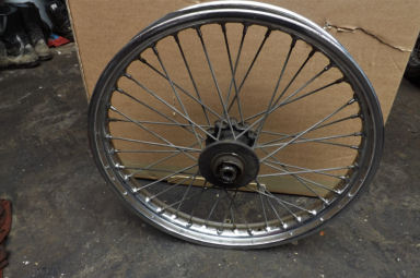 BSA A65 crinkle hub rear wheel