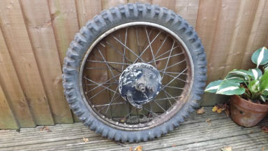 Greeves Scottish front wheel