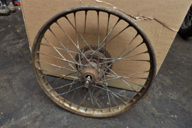 James Francis Barnett rear wheel early type with spindle