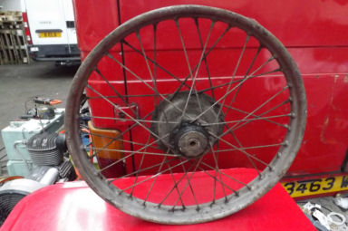 Velocette LE front or rear wheel single sided hub