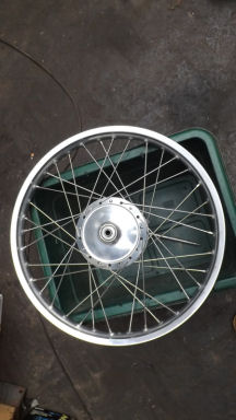 Yamaha DT front wheel