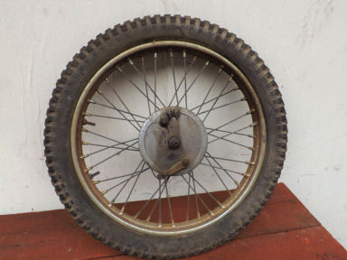 BSA C15 Trials front wheel