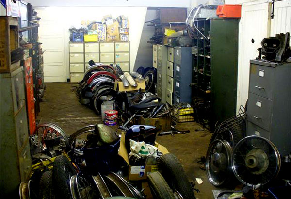 Spares and parts. Motorbikes.